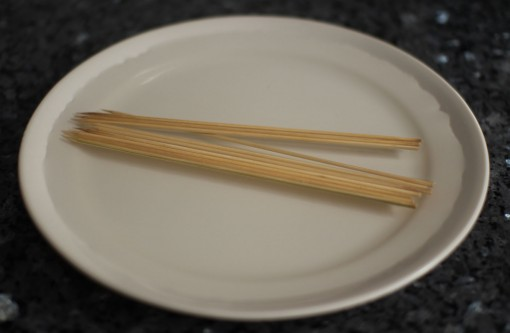 bamboo skewers soaked