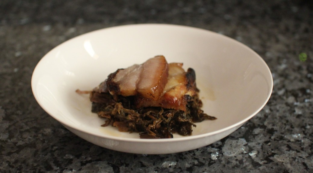 pork belly and dried pickled mustard